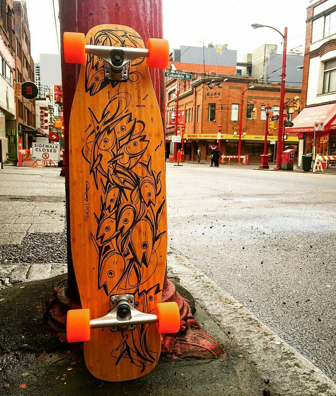 The awesome dudes over at Vancouver's @flatspotshop know how to put together a tasty looking Poke for their customers!  Go give those rad guys a follow if you live in Van!  #Repost #LoadedBoards #FlatSpotLongboards #Orangatang #PolarBears