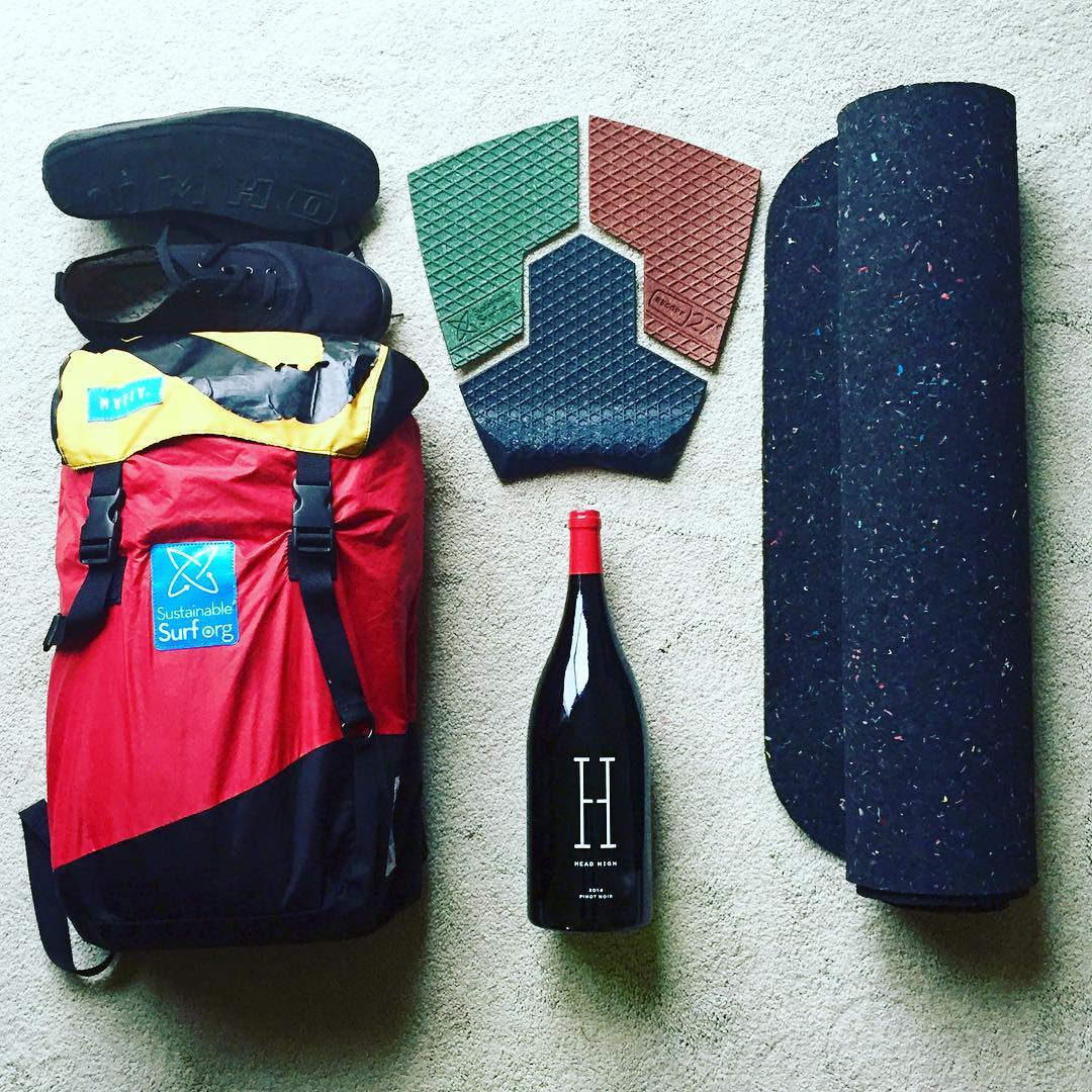 Just a few of the  #DeepBlueLife #Raffle items that some lucky soles will be walking away with tomorrow night at our #Soirée in Santa Cruz (Fri, March 11 th, 6-10pm) at @sawyersupply ~ including an upcycled-sail backpack from @mafiabags ,...