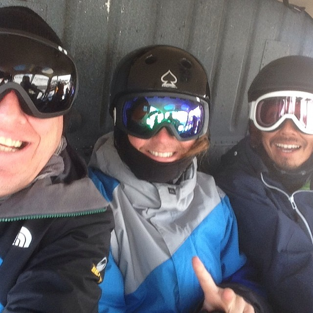 @tronddyb @takafumiokawa and me living the dream! @tailgatealaska #H2Oheli #forridersbyriders #handmadelaketahoe #smOKin