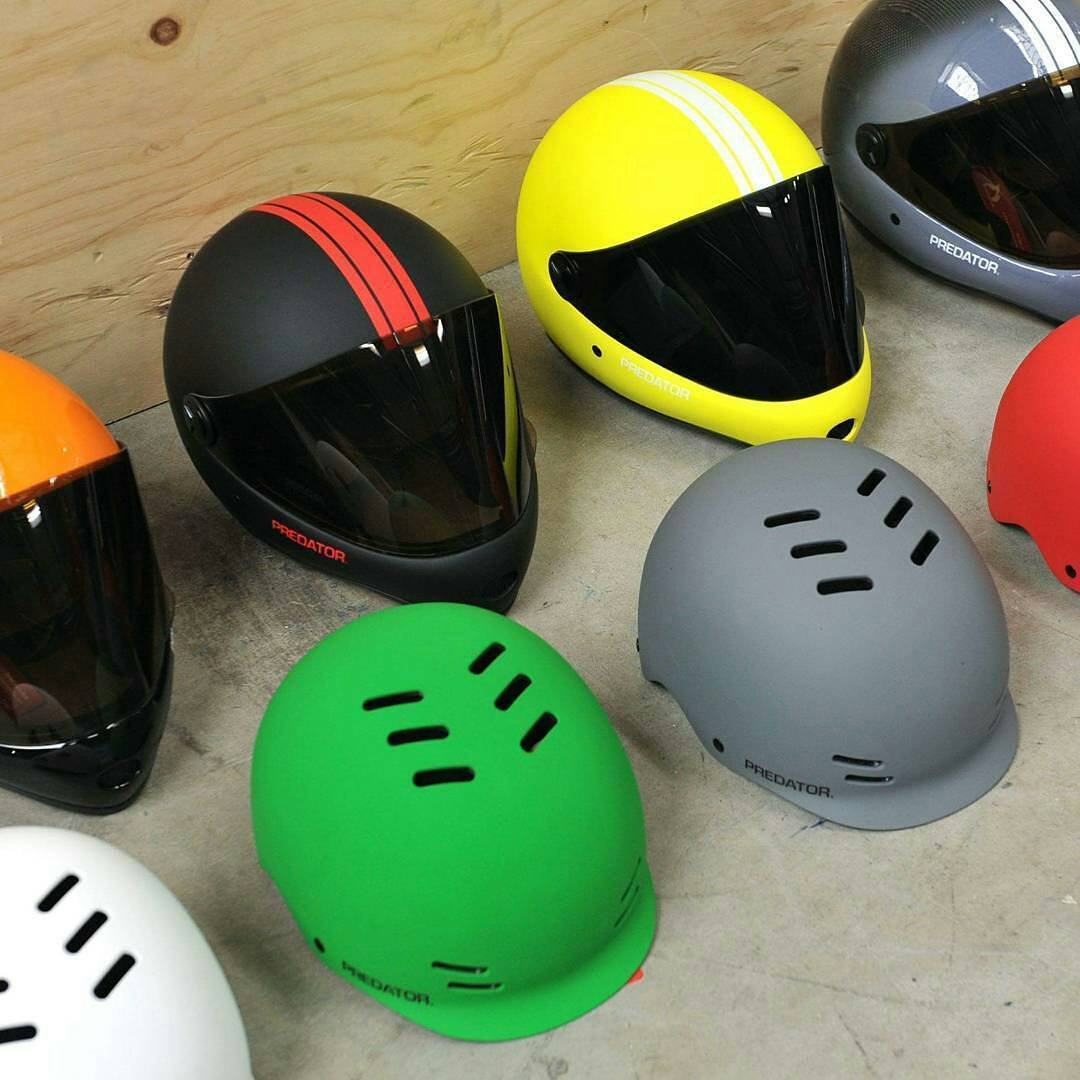 Protect your melon. A new batch of these beauties is due to arrive @ @sickboardshop . #PredatorHelmets #helmet #sickboards #fullface #halfshell #DH6 #FR7 #Regrann
