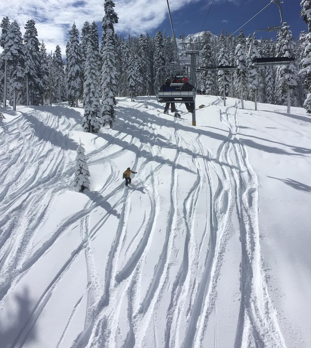 Winter is back in Tahoe!! @sugarbowlresort