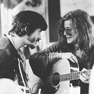"""Without music, life would be an error."" ~ Nietzsche // image: Rick Danko cracking Janis Joplin up #AllSwell"