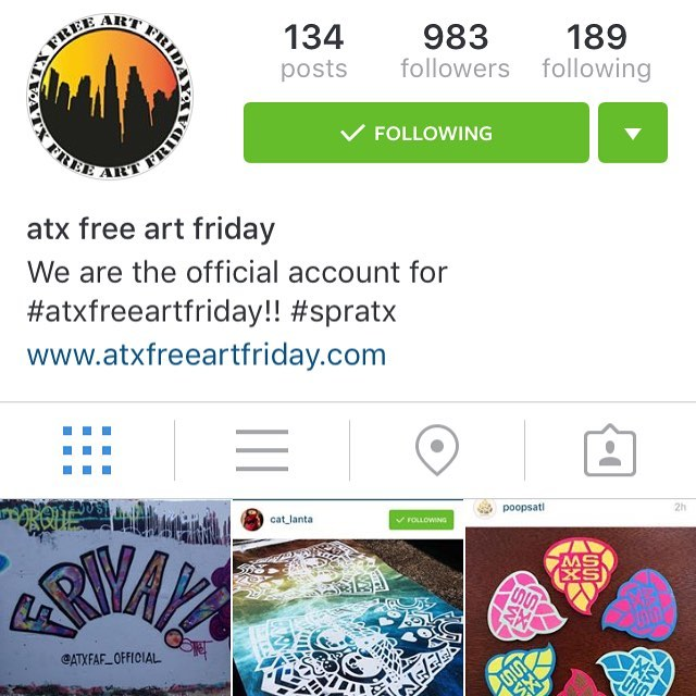 Almost 1k followers for @atxfaf_official !!! Let's take care of that today!  Please follow our new Instagram for all things #atxfreeartfriday • • These folks are working hard to bring you the game even in the rain so please have a safe and fun...