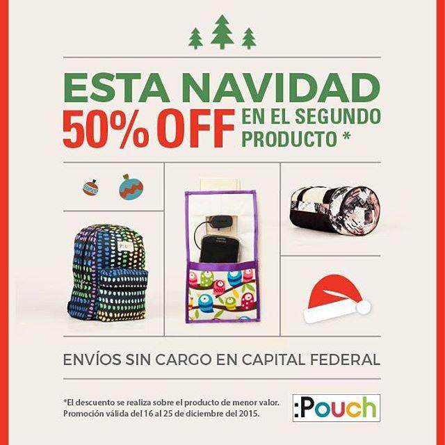 En esta Navidad el regalo que buscas a 1 sólo click y 50% off en el segundo producto! Entrá a www.the-pouch.com.ar y conocelos