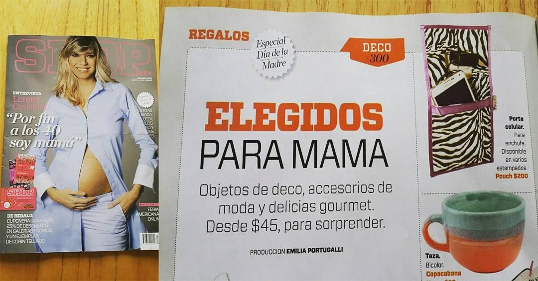 La revista Shop de Clarin confiando en nosotros! Ya pensaste que regalarle a tu mama? Entra en www.the-pouch.com.ar y conoce todos nuestros productos...