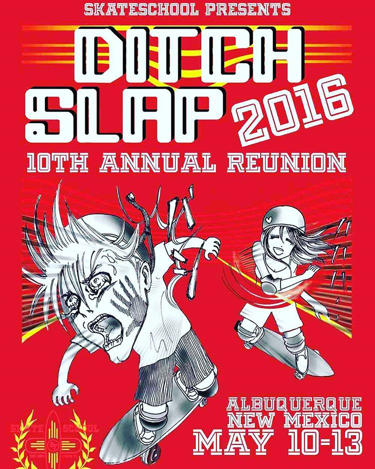 We are excited to come on as a sponsor for S.L.A.P. this year!  Get all the details at ditchslap.com!  It is way rad! Get there! We are going to be there in full force!  #ditchslap #skateschoolsantafe