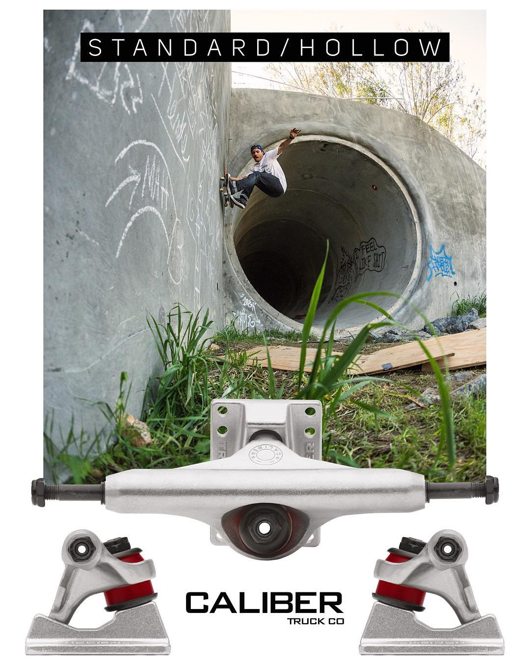 #Hollow #caliberstandards #OUTNOW - AVAILABLE at your local skateshop! #hollowkingpins #hollowaxles / Rider @radicalsmith