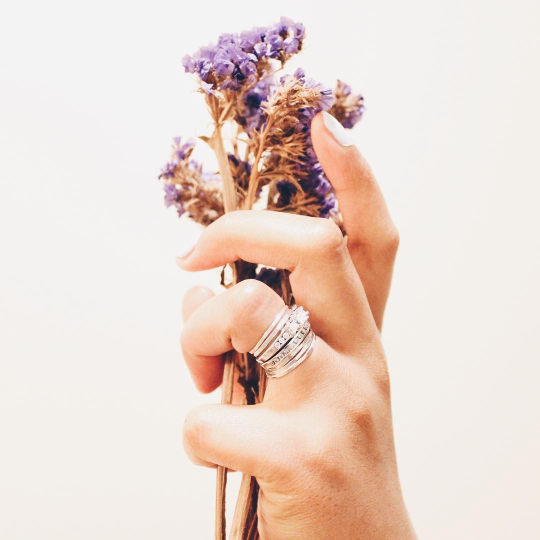 The Stacking style guide. Sterling bands, over and over again. Hand model/photographer: @vvannkuja  #handmodel #model #promodel #stackingrings #silver #capestyle #capecod #ss16 #goals #marin #fleur #flowerchild #gypsysoul #gypsy #gypsyvision