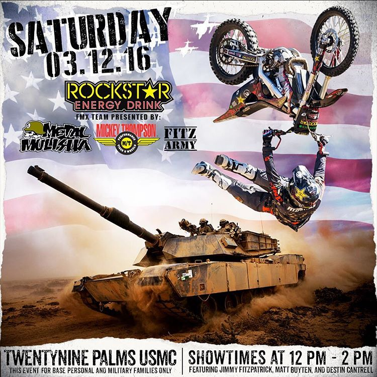 Let's do this! @JFitzo @MattBuyten @CantrellFMX throwing down for our men & women of service