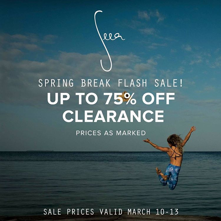 Ridiculous deals this weekend for our Spring Break-bound babes! Go to theseea.com to shop the Flash Sale - three days only!
