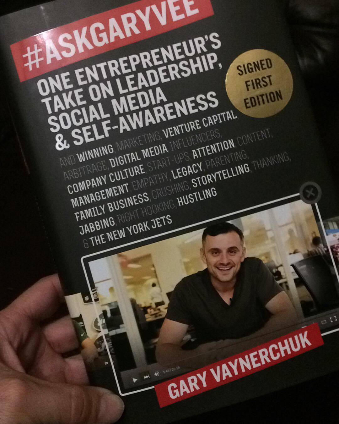 This one is going to be a banger!! #thanks @garyvee #askgaryvee #book #snapchat #skateboarding #longboarding #reading #business #entrepreneur