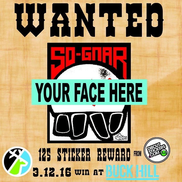 MINNESOTA. Only 1 day left to shred & we know you ❤️ stickers!! We are teaming up @diecutstickersdotcom & many others at @buckhill to throw a couple events tomorrow!! Join us for the Stunt Ditch Jib Jam from ( 11 am - 12:30 ) to win a