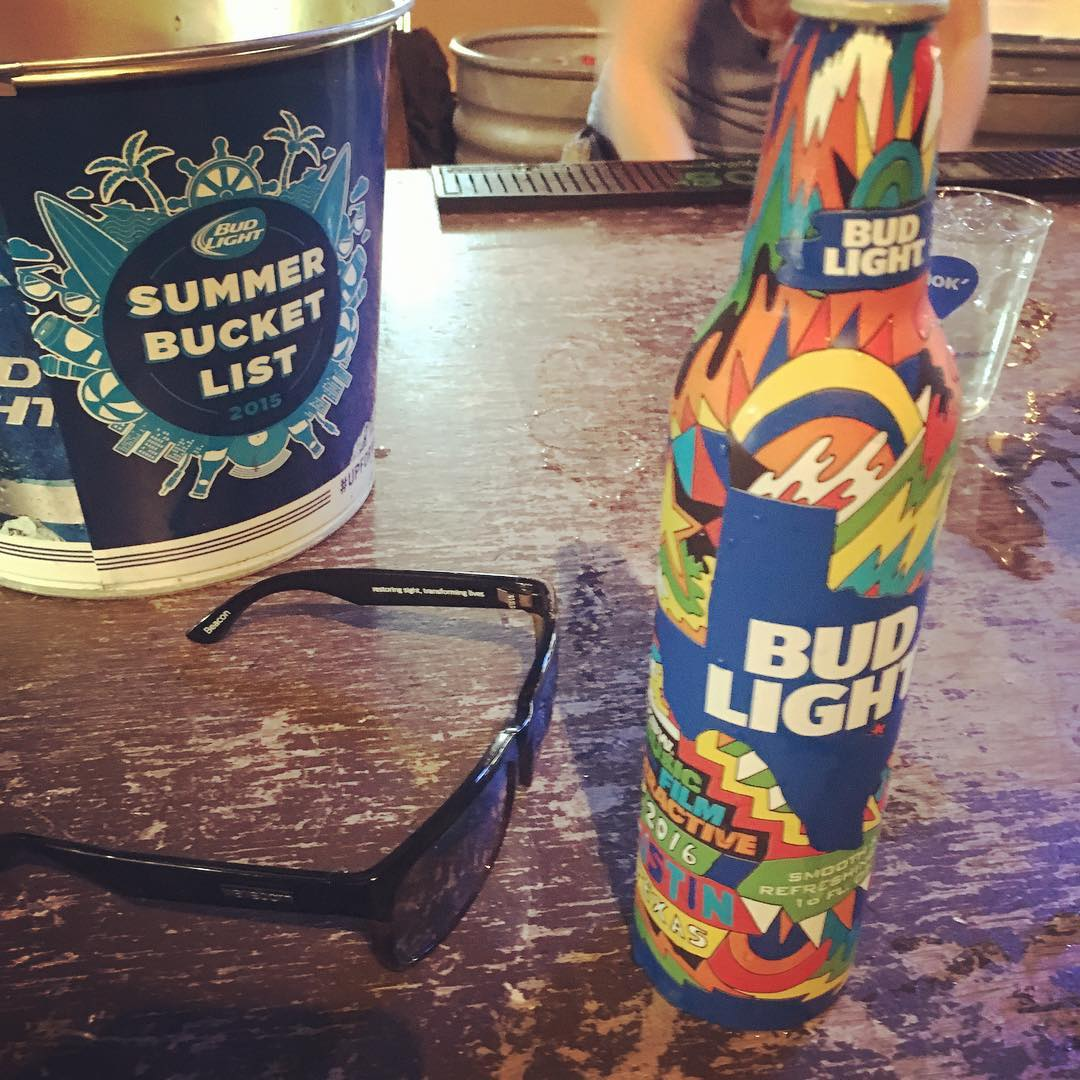 Coolest bud light ever? #sxsw #findthesun #waveborn