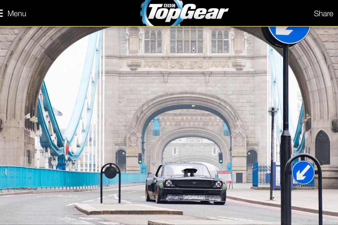 Made it onto TopGear.com earlier today while driving across a completely shut Tower Bridge in London with @MLeBlanc as my co-driver. Pretty wild to see this bridge with no other cars on it except my Ford Mustang Hoonicorn RTR! #TopGear #LondonTakeover...
