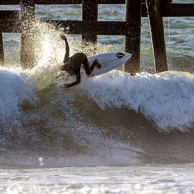 San Clemente's @davideconomos cracking lips at the pier.