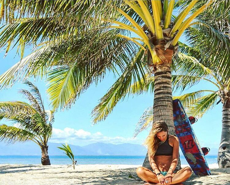 Paradise. Just a girl and her kiteboard. @colleenjcarroll in the Philippines.
