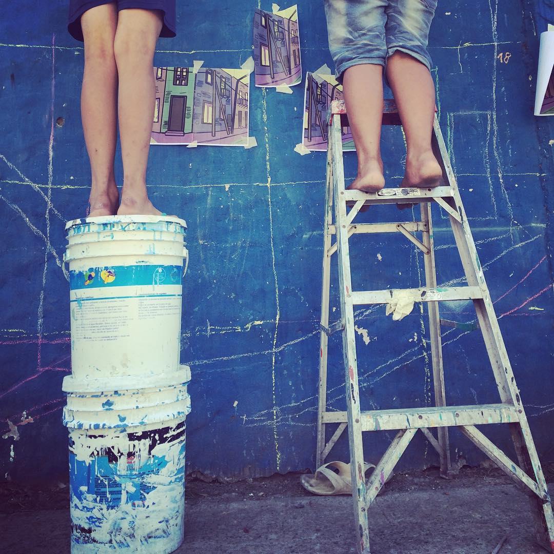 Siempre arriba #darte #mural #streetart #islamaciel