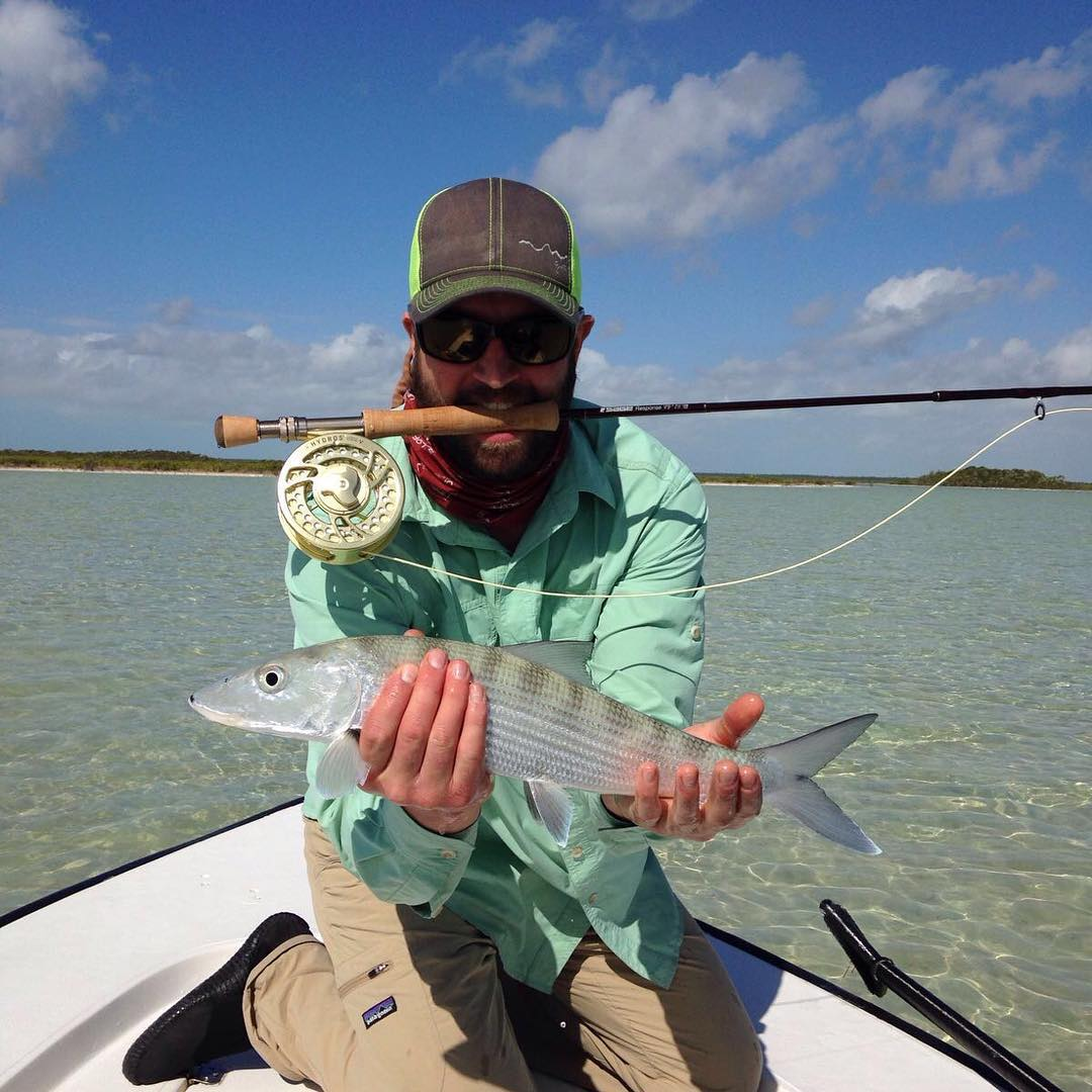 Catch of the day goes to Give'r Athlete @lee.beezy gettin bonefish crazy in the #Bahamas!  Slay 'em and we'll share an @upslope upon return!  #superjelly