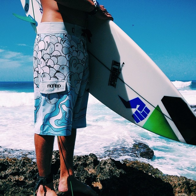 noRep x OPIE ORITZ Boardshorts out and about this morning