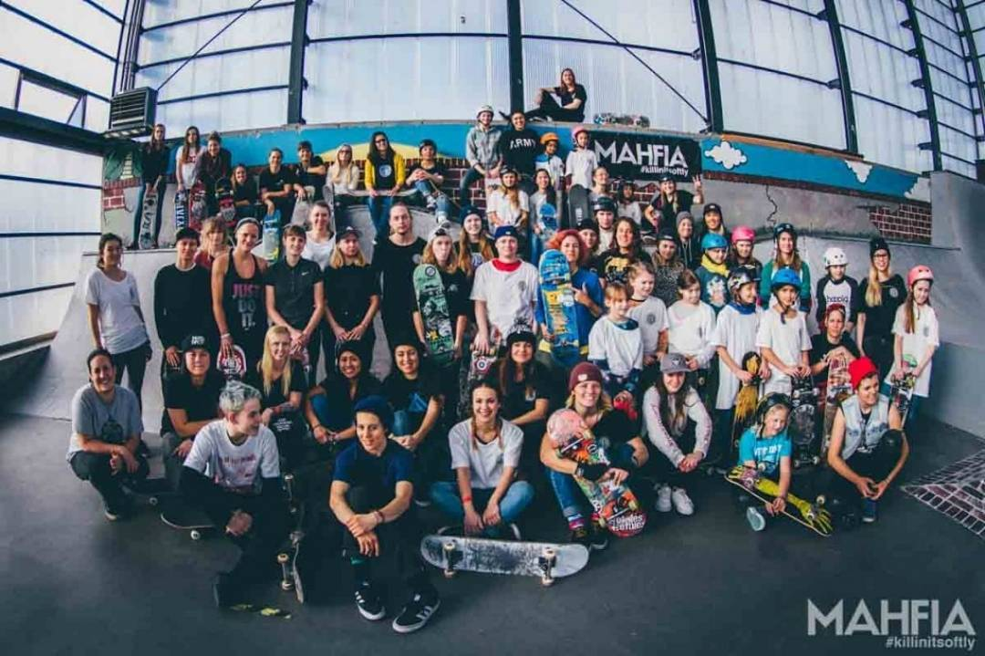 """We had over 60 girls attend, ages 5-50 from over 6 different countries"" -Oslo Girls Skate Session 02.26.16 Thanks to @jenteskate @nolimitskate @thealliance_wsa and @mahfia_tv 