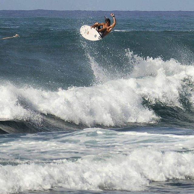 @davio_figueiredo getting high at Haleiwa.