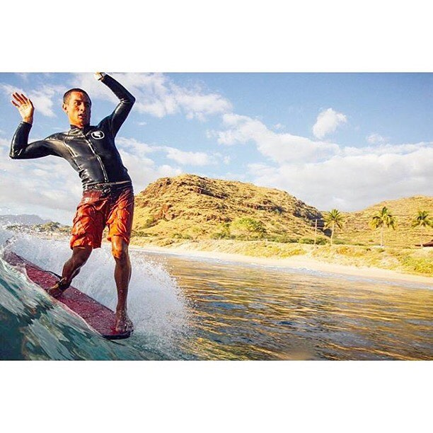 Style points for Team Rider @mauizack808 | Featuring the Super Skin 2.1 wetsuit top available at norepboardshorts.com #inspiredboardshorts