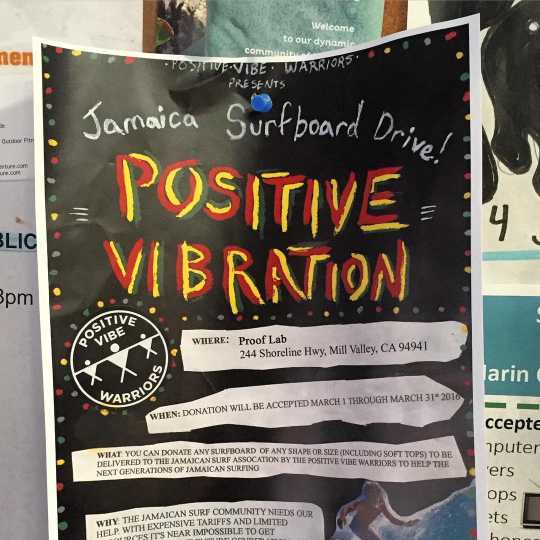 Get #JAMMING in March with our pals at @positivevibewarriors & @prooflab , by donating your used surfboard(s) to the NXT-GEN of #Jamaican  surfers