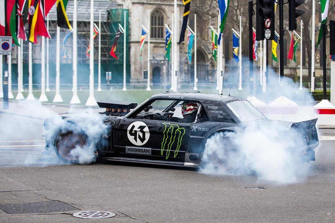 HHIC @kblock43 shredding the streets of London in the Hoonicorn RTR. #TopGearLondonTakeover