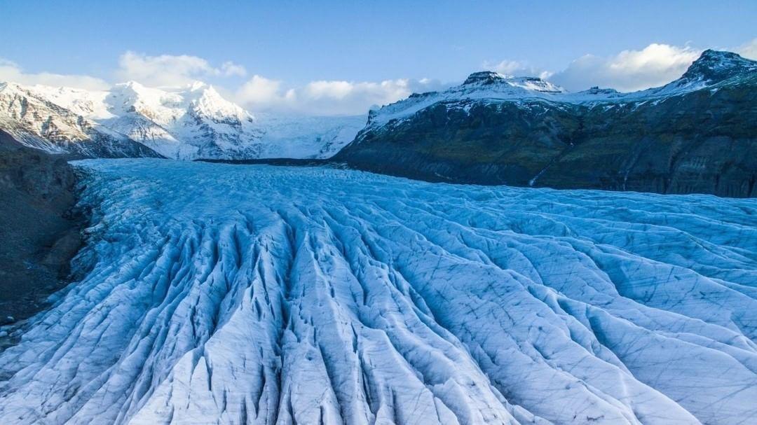 Fjallsárlón Glacier Lagoon  Credit: Rick Kirton | #DJI #Iceland  Use #IamDJI to share your aerial creations with us!