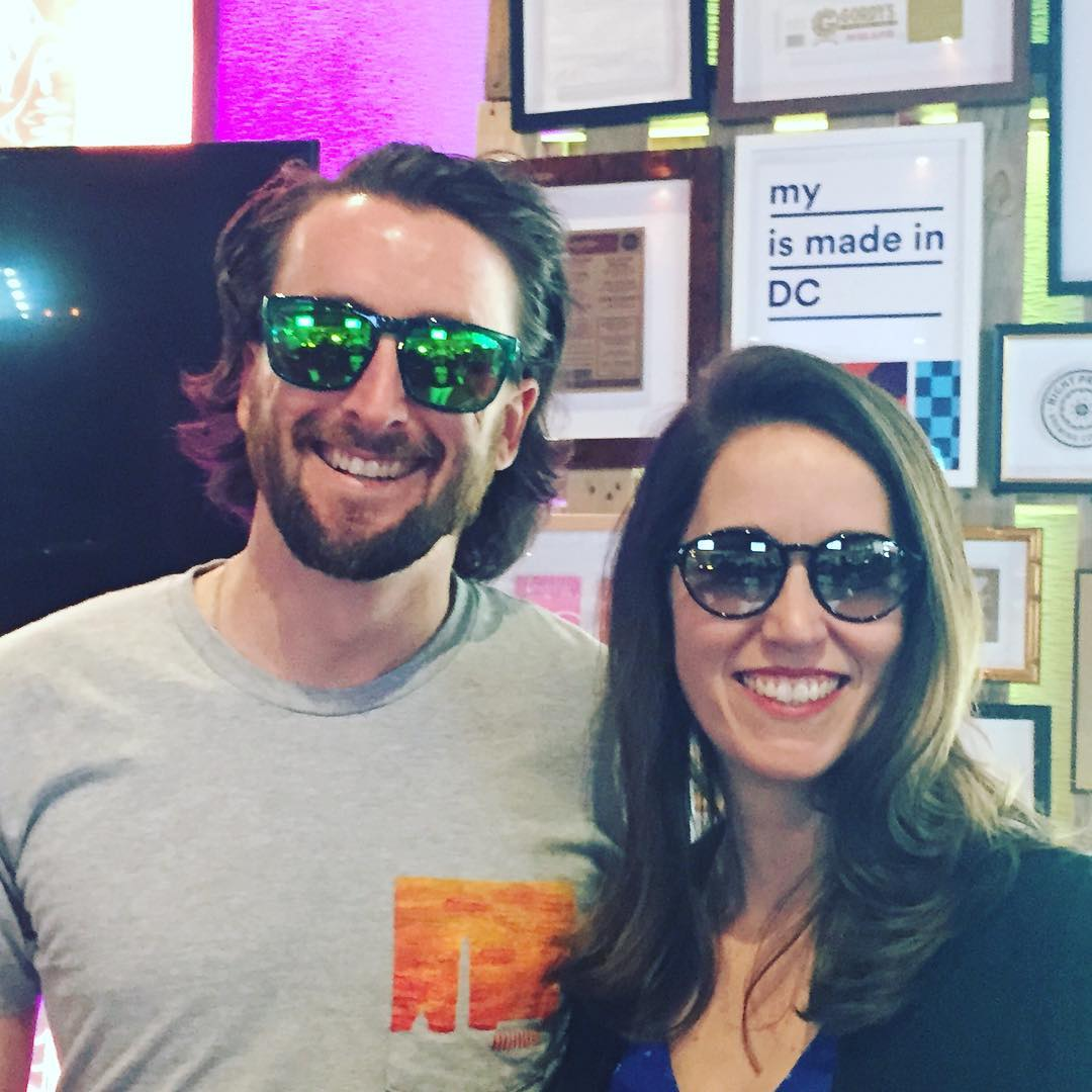 My #waveborn sunglasses are proudly made in #DC #WeDC #sxsw #dctech #advisor #findthesun #givesight @kathleenhale_ @rebeldesk