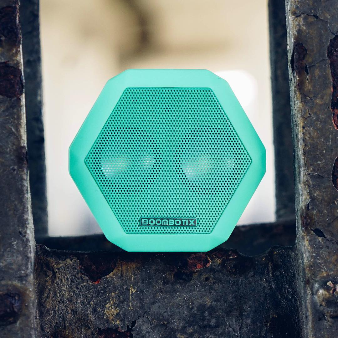 The Rex in Spring Mint  Which colors would you like to see the Rex come out in?  #Boombotix #audiophile #portablespeaker #essential #design