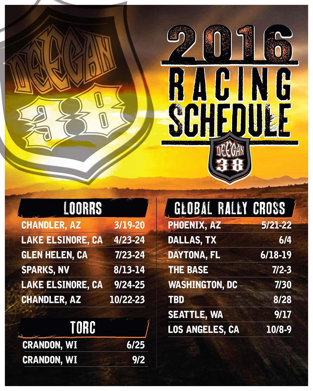 Big announcement! Have a lot of racing this year! Both #offroad and #grc