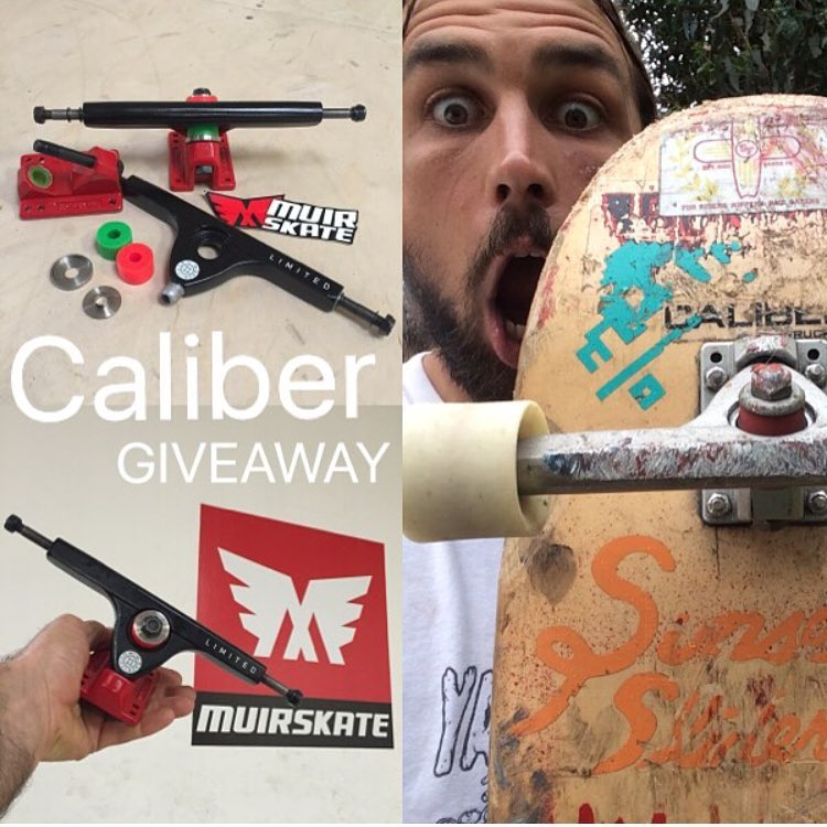 @muirskate is doing a giveaway for some limited edition Muir x Caliber trucks. head over to their page to scope the details!