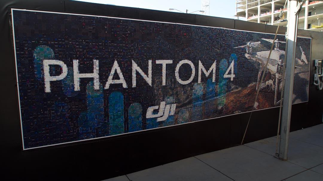 #Phantom4 Mosaic Mural created from 6,240 pictures that YOU tagged on Instagram with #DJISXSW | #Instaprint @SXSW