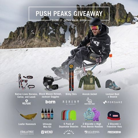 Teamwork makes the dream work! Together we're offering a MASSIVE giveaway with amazing brands. Tag someone that could use a new hammock, shoes, skis, goggles, jacket, etc! #pushpeaks | ☝Tap link in bio to register, easy from phone.  @discrete...