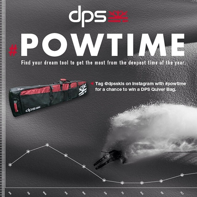 In case you forgot... Tag your best photo with #powtime to the @dpsskis #Instagram account for a chance to win a DPS Quiver Bag. Contest ends April 15.