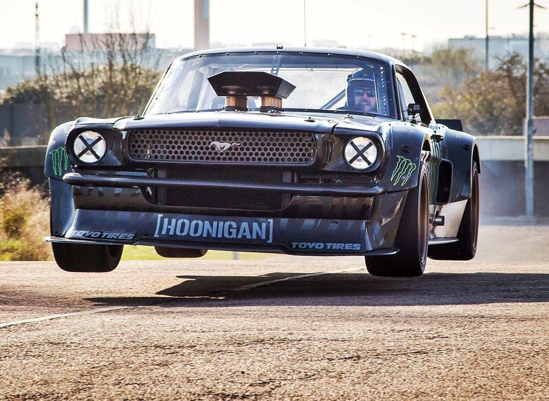 Airborne Hoonicorn. Damn this thing is fun to drive. Stoked on all the seat time I've had in it the past few days! #TopGearLondonTakeover #hovercorn #airtimeisagoodtime #Hoonicorn