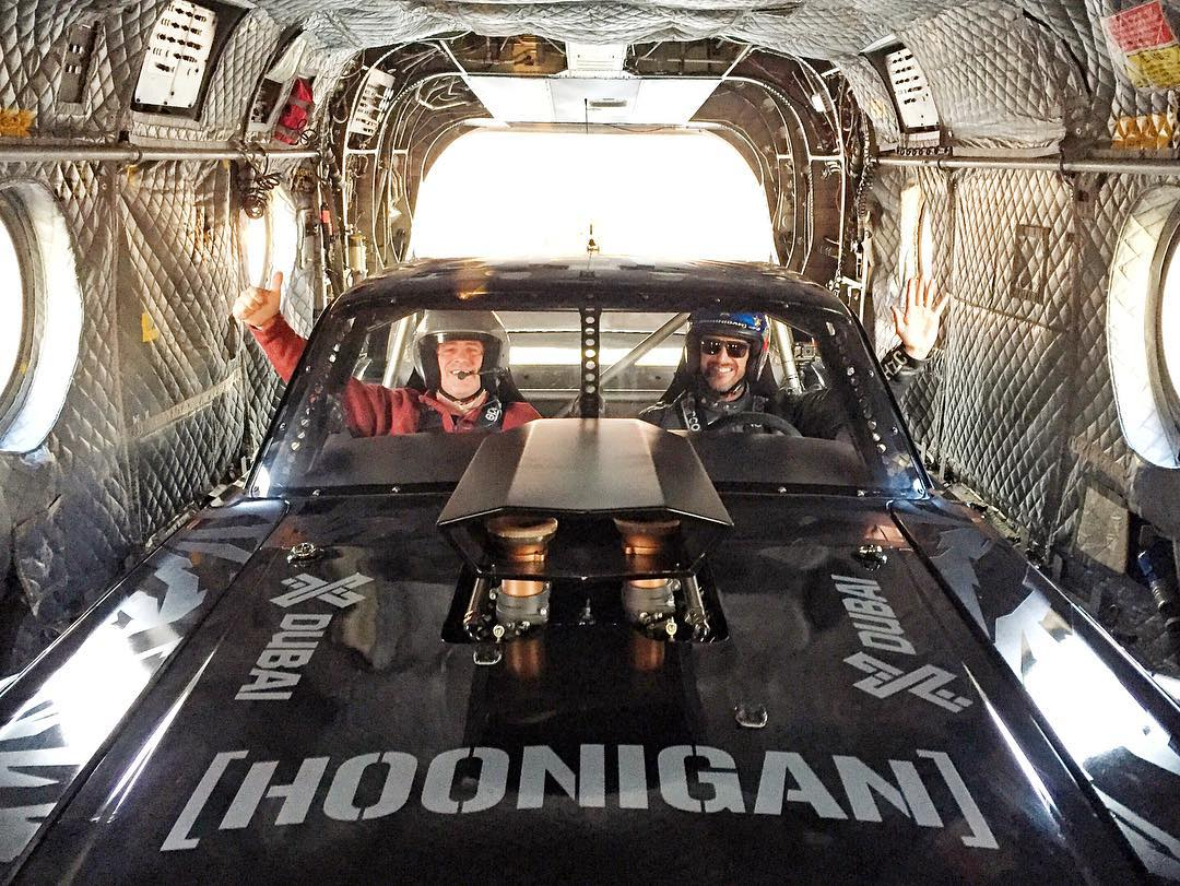 Can we transport the Hoonicorn everywhere inside a big Chinook helicopter? I kinda like it in here. Oh, and I need Matt LeBlanc as my co-driver, too. Ha. #TopGearLondonTakeover #gettothechoppah #Hoonicorn #helicopterisalifestyle