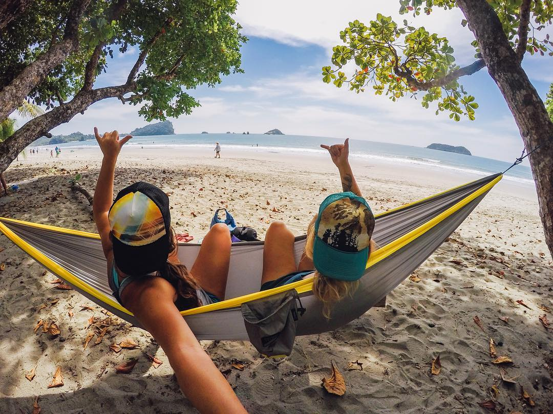 Just chilling on the beach with @natalizollinger on this #TravelTuesday! All we need is a cold drink...Where is your wanderlust taking you? Share with us via link in our bio! #GoPro #GoProGirl #CostaRica