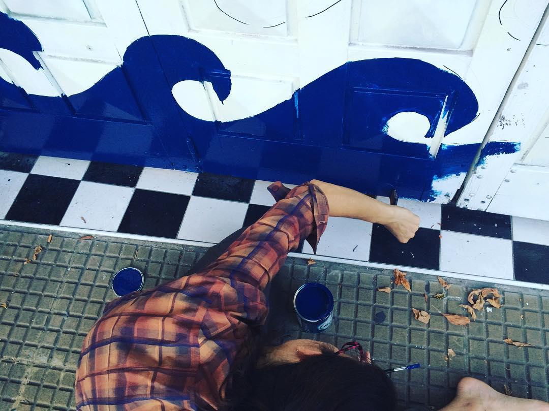 Creadora de oceanos @olimatextil #darte #mural #streetart