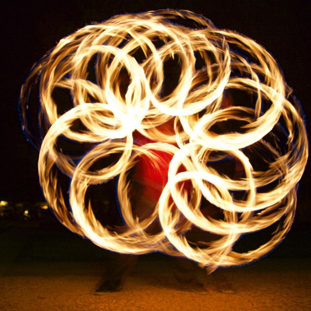 Playing with #longexposure on the #canon5dmarkiii with fire nunchucks!!! Dangerously fun