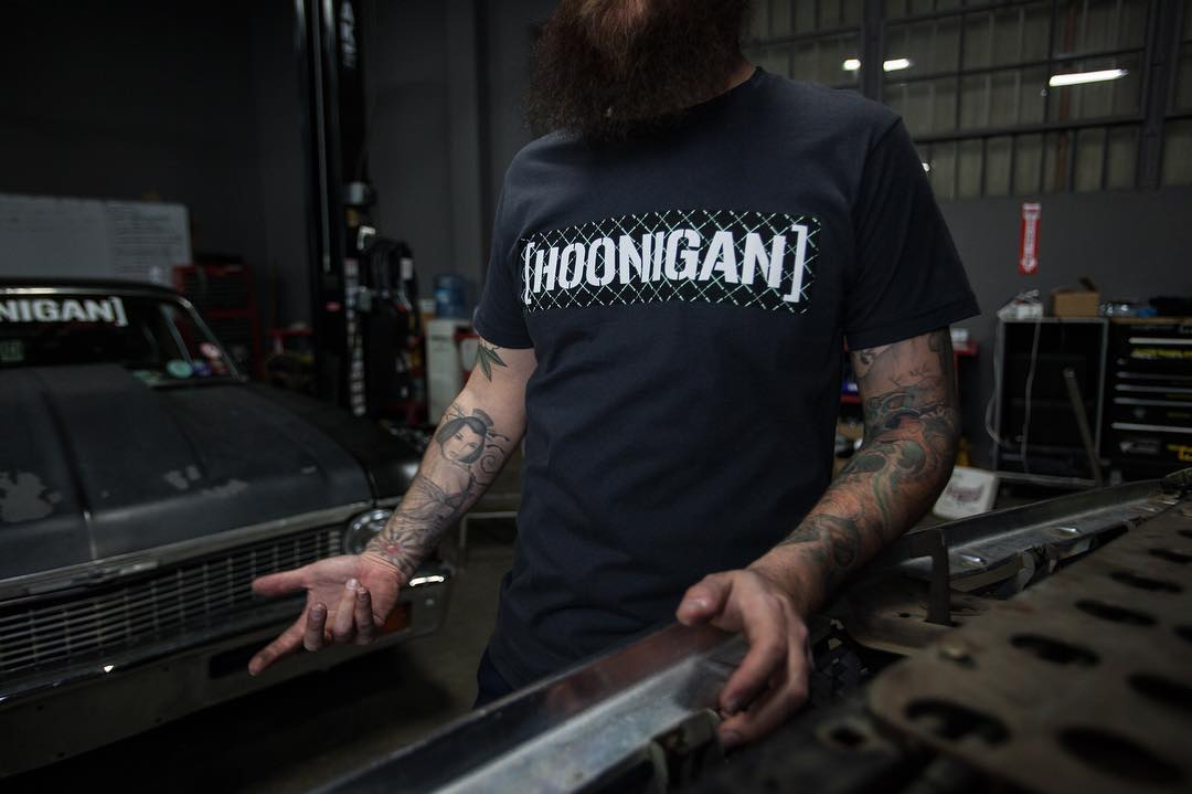 A little dirt under the nails never hurt anyone. The UV C-bar tee, ready to wrench and available on #hooniganDOTcom.