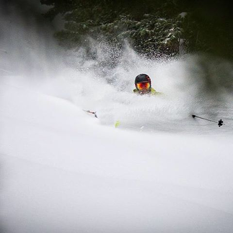Utah is skiing good write now.  Here is @benwhiteskis going #intothedeep .  PC: @esalesski