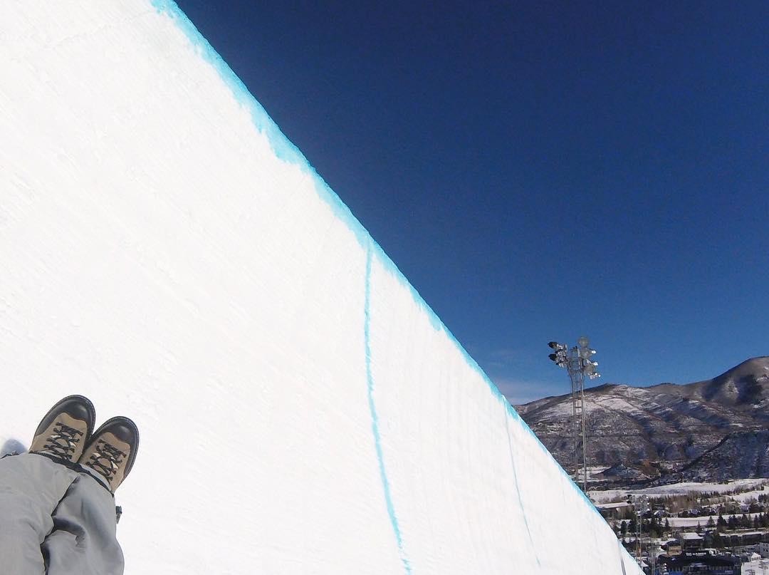 Sometimes you never know the true value of a moment until it becomes a memory...#highfivesathlete @tonyschmee #POV in the X Games superpipe @gopro #goprosnow