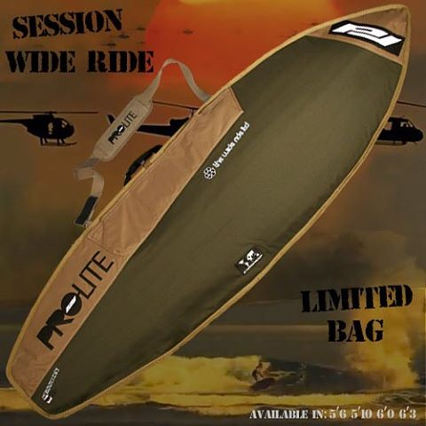 The Session Wide Ride bag has a new look and new sizes! Keep that groveler protected and cool! The Wide Ride has a true reflective bottom to reflect the Suns heat, and mm air light padding to protect your board from everything else! Now available from...