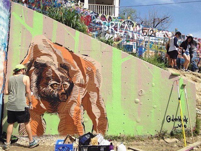 @danblack_who • • At the @hopecampaign Re-Create event. • • #atx #austintx #texas #tx #spratx #thehopecampaign #mural #art