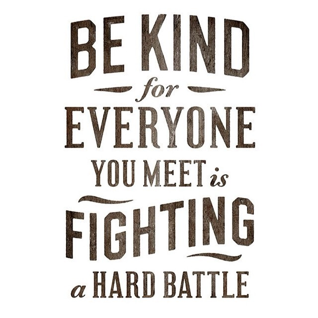 #Monday #pinspiration!  Be kind a l w a y s