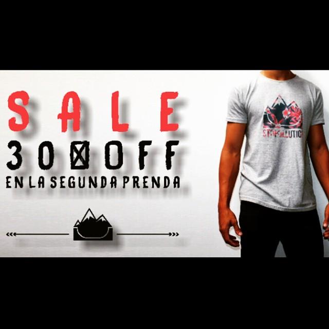 SALE 30% OFF en la segunda prenda!  Consulta el precio de la promo a través de nuestro Facebook.  facebook.com/StopollutionCo  #stopollution #sale #boarding #clothing #spring #summer #skate #surf #shop