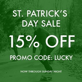 15% OFF all orders with code: LUCKY at checkout now through Sunday night!  Happy St. Patrick's Day!