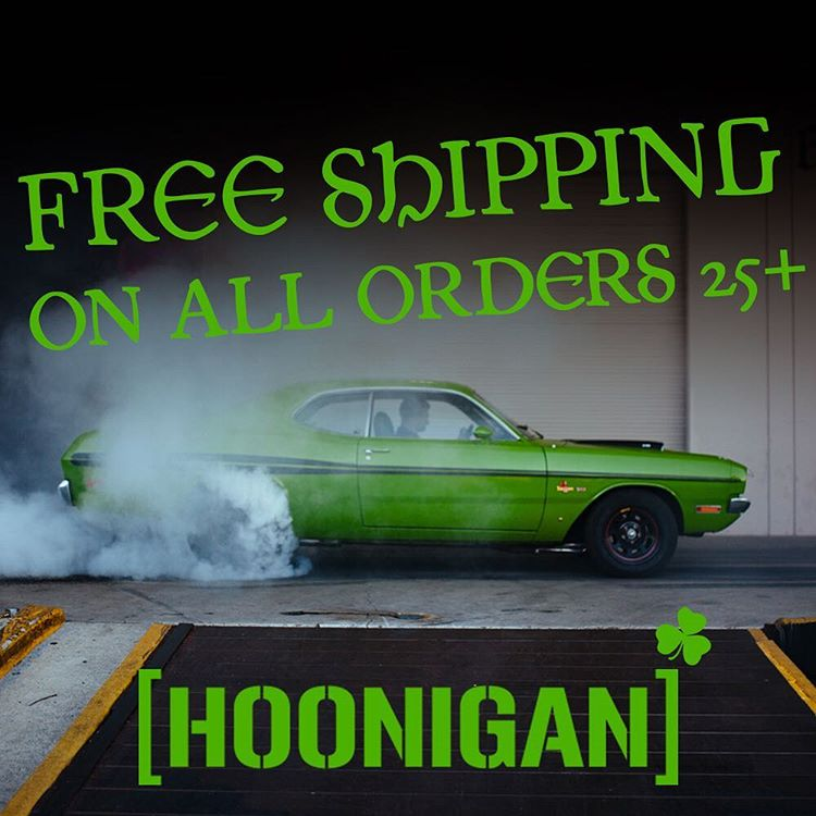 FREE SHIPPING TODAY ONLY: don't have to celebrate by just tossing em back, we got you on free shipping on #hooniganDOTcom. Today only so act fast. #thrashednottrashed  ___ Rules: - Free domestic shipping on orders of just 25 bucks and up. -...
